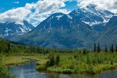 Eagle河自然中心在阿拉斯加 免版税图库摄影