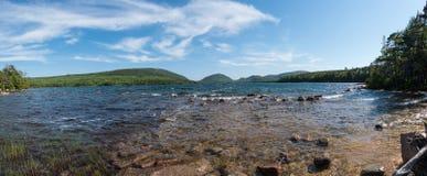 Eagle湖全景 免版税图库摄影