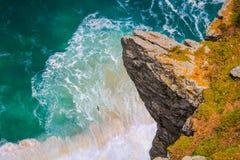 Eagle över det grova havet Royaltyfria Bilder