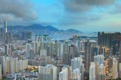 从Eagle& x27的香港地平线九龙; s巢 免版税库存照片