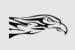 Eagle. Vector illustration of eagle.Black silhouette on white Royalty Free Stock Photos