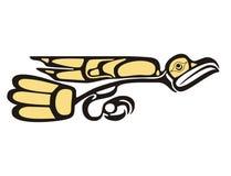 Eagle. Mythological image art style eagle royalty free illustration