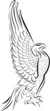 Eagle. Side view of an eagle. Line art style Royalty Free Stock Image