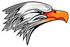 Eagle. Abstract eagle head on the white background Stock Images