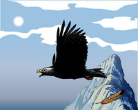 Eagle. Additional  format Illustrator 8 eps Stock Image