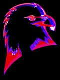Eagle. The abstract three-dimensional image of a head of an eagle Stock Illustration