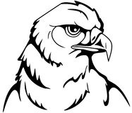 Eagle. Illustration in black and white of an eagle Royalty Free Stock Images