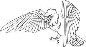 Eagle. Illustration of a flying eagle Royalty Free Stock Images
