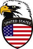 Eagle. Vector illustration of Eagle with crest of American flag Royalty Free Stock Photo