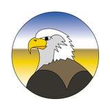 Eagle. Vector illustration of eagle logo isolated on white Royalty Free Stock Photos