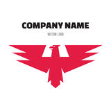 Eagle Abstract Sign in Classic Graphic Style for Business Company - vector logo design template. Royalty Free Stock Photos