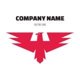 Eagle Abstract Sign en el estilo gráfico clásico para la empresa de negocios - vector la plantilla del diseño del logotipo Fotos de archivo libres de regalías