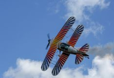 Eagle Aerobatics à l'atterrissage melrose images libres de droits