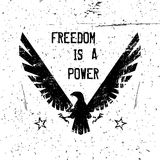 Eagle affisch stock illustrationer