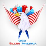 Eagle with American Flag Royalty Free Stock Photo