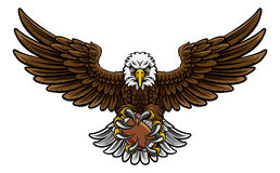 Eagle American Football Sports Mascot illustration de vecteur