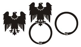 Eagle And Snake Ouroboros Royalty Free Stock Photography