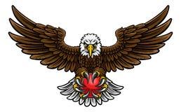 Eagle Cricket Sports Mascot Royalty Free Stock Photos