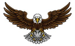 Eagle Golf Sports Mascot Royalty Free Stock Image