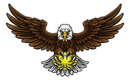 Eagle Tennis Sports Mascot Royalty Free Stock Images