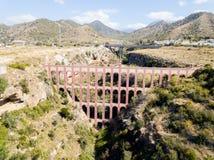Eagle Aqueduct em Nerja, Espanha imagens de stock royalty free