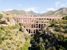 Eagle Aqueduct em Nerja, Espanha fotografia de stock royalty free