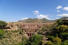 Eagle Aqueduct em Nerja, Espanha imagem de stock royalty free