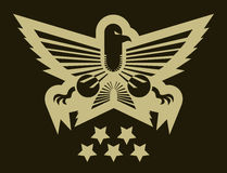 Eagle army emblem Royalty Free Stock Photo