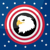 Eagle as a symbol of America Royalty Free Stock Photos