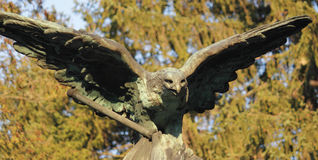 Eagle as a symbol of power and grandeur. Statue of an eagle as a symbol of power and grandeur Stock Photos