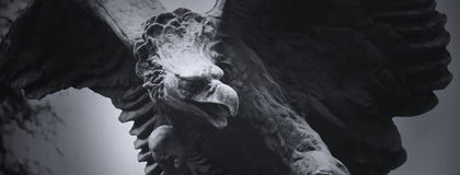 Eagle as a symbol of power, grandeur. Statue of an eagle as a symbol of power, grandeur, and power Royalty Free Stock Photography