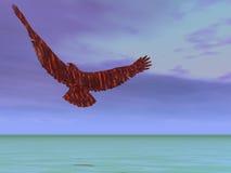 Eagle Ascending. Eagle flying up Stock Images
