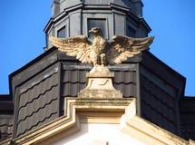 Eagle auf dem Dach Lizenzfreie Stockfotos
