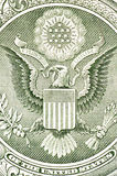 Eagle auf dem Dollarschein Lizenzfreie Stockfotos