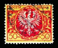 Eagle auf einem großen barocken Schild, serie, circa 1921 Lizenzfreie Stockfotos