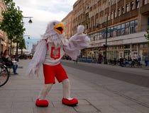 Eagle auf Piotrkowska-Straße Lizenzfreie Stockfotos