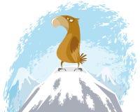 Eagle auf Spitze Lizenzfreies Stockfoto