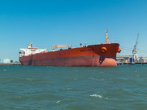 Eagle Austin tanker ship in the Port of Melbourne, Australia royalty free stock photography