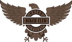 Eagle avec le texte Emblème de cycliste illustration de vecteur