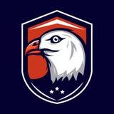 Eagle Badge Lizenzfreie Stockfotos