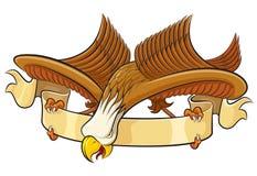 Eagle with banner. Vector illustration, eagle with banner vector illustration