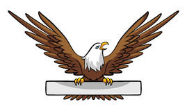Eagle Banner Photo stock
