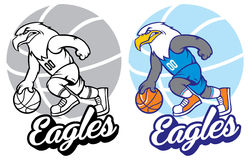 Eagle-basketbalmascotte Stock Afbeeldingen
