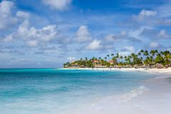 Eagle beach in Aruba stock photo