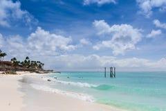 Eagle beach in Aruba royalty free stock image