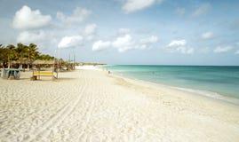 Eagle beach on Aruba island Stock Photography