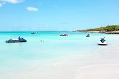 Eagle beach on Aruba island Stock Photos
