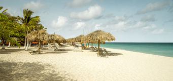Eagle beach on Aruba island. The Caribbeans Stock Photos