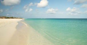 Eagle beach on Aruba island. Panorama of Eagle beach on Aruba island Royalty Free Stock Photo