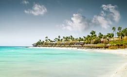 Eagle Beach on Aruba island Stock Image